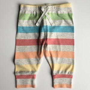 Gap leggings size 3 6 months cotton striped baby